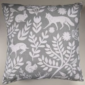 Cushion Cover Made in Next Grey Woodland Animals
